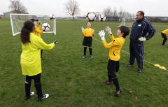 Young players being coached