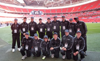 de Ferrers Academy pupils at Wembley Stadium on Sunday 26 February 2012