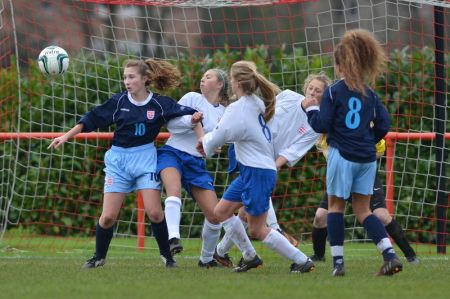 esfa u15 girls international final selection weekend stafford town FC